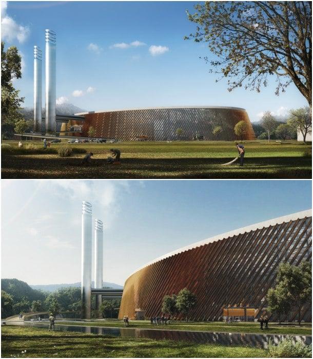 exterior planta gestión de residuos Shenzhen