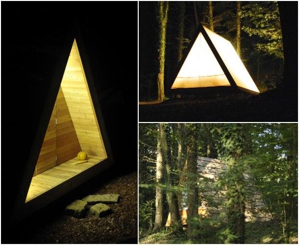 cabaña rural noche Lushna