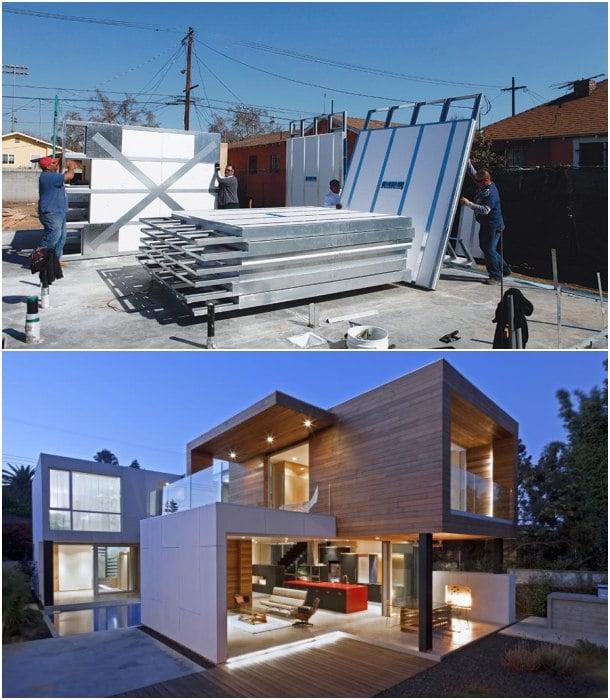casa construida con mnmMOD