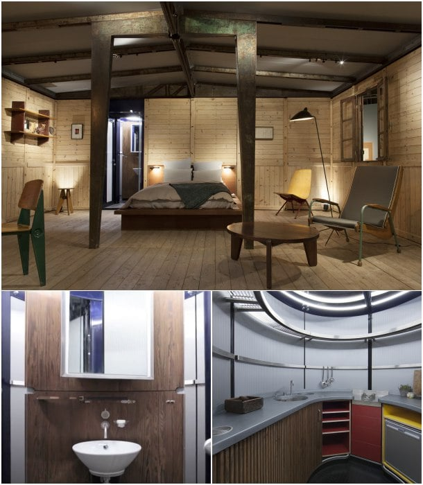 interior casa desmontable Jean Prouve