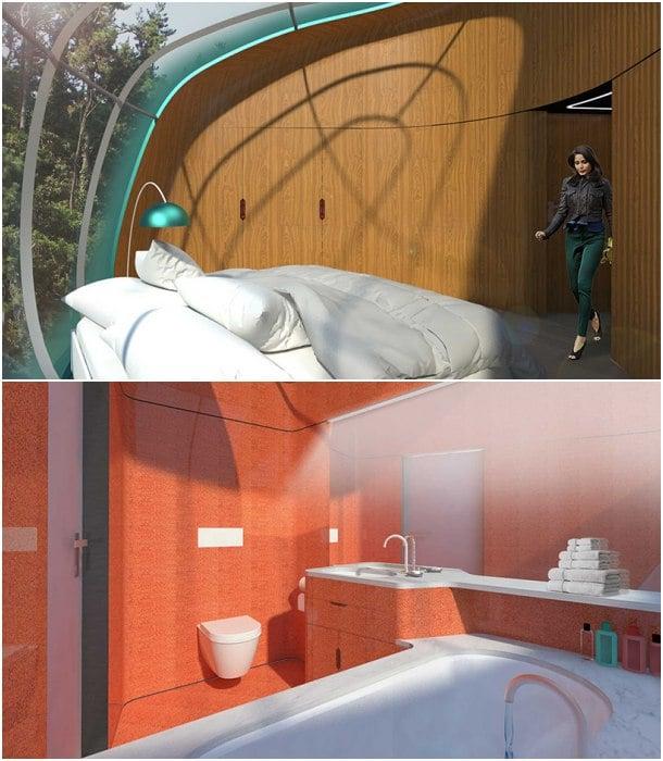interior pods prefabricados Fernando Romero