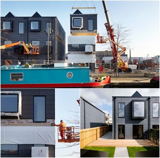 montaje casas adosadas prefabricadas hoUSe