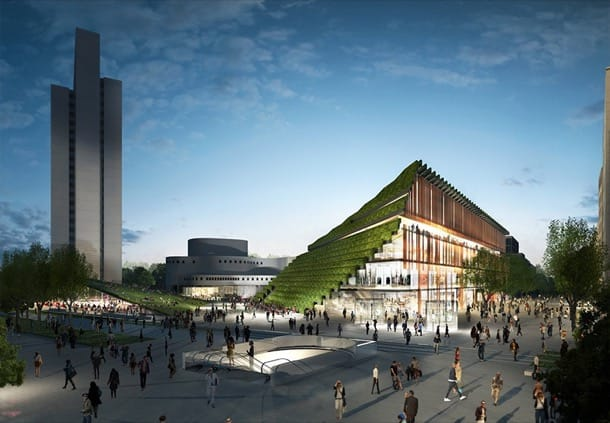 remodelacion Düsseldorf con fachadas verdes