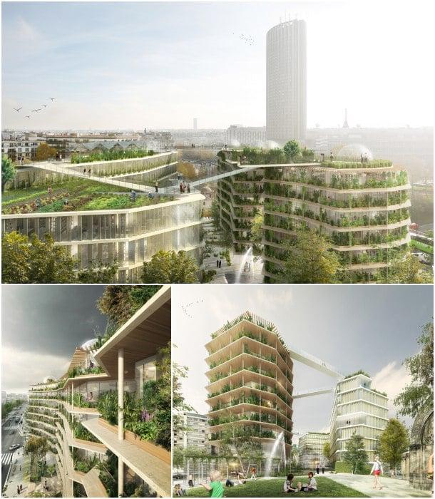 render pasarelas edificios Paris