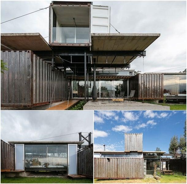 Casa con contenedores reutilizados en ecuador rdp house - Casa hecha con contenedores ...