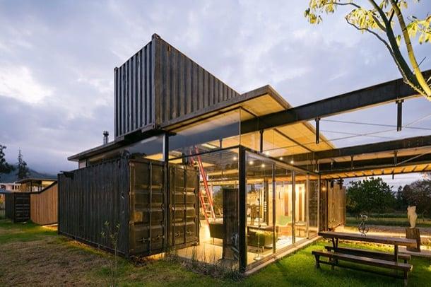 considerando esos gustos del propietario para los arquitectos no tuvo que ser muy difcil decidirse por utilizar contenedores de carga para formar la - Casas Con Contenedores