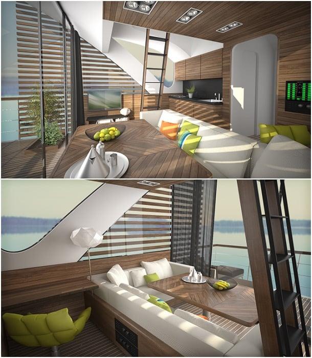 interior apartamento catamaran Salt&Water