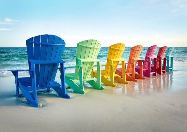sillas de plástico reciclado Adirondack