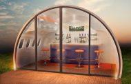 Aeropods: cobertizos de aluminio, a partir de trozos de avión