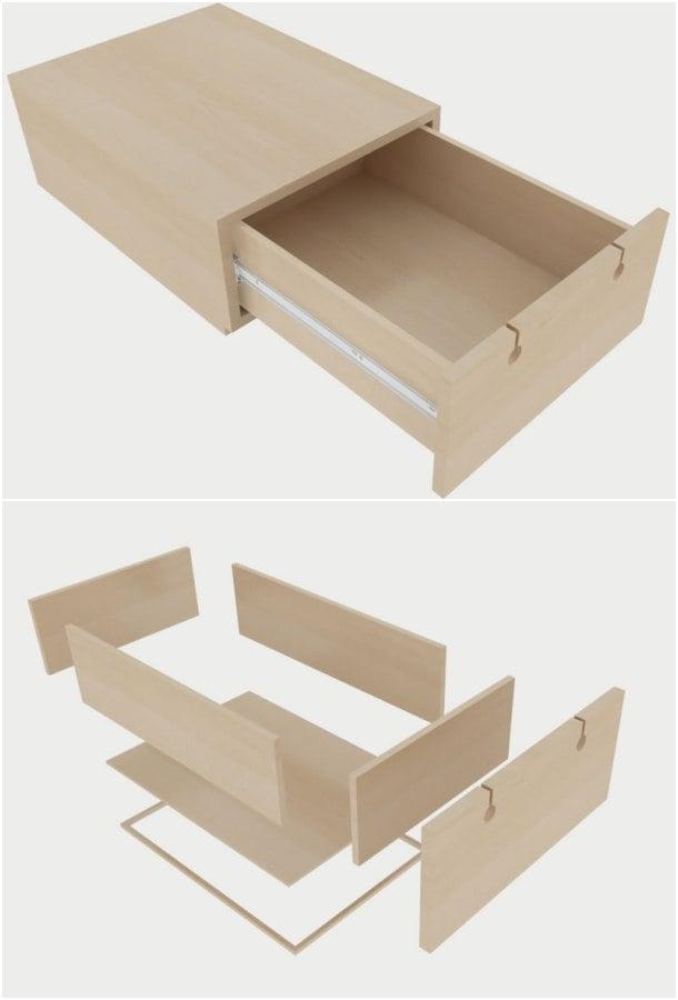 detalle cajón madera