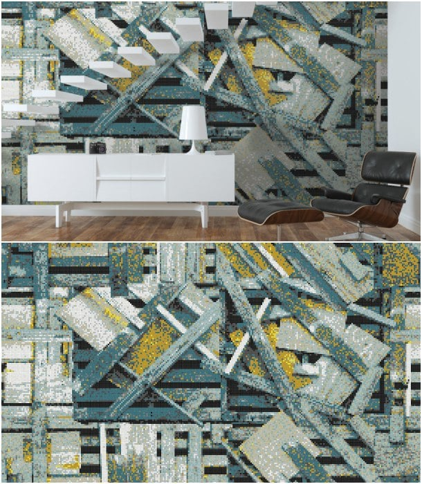 pared con teselas de vidrio Artaic