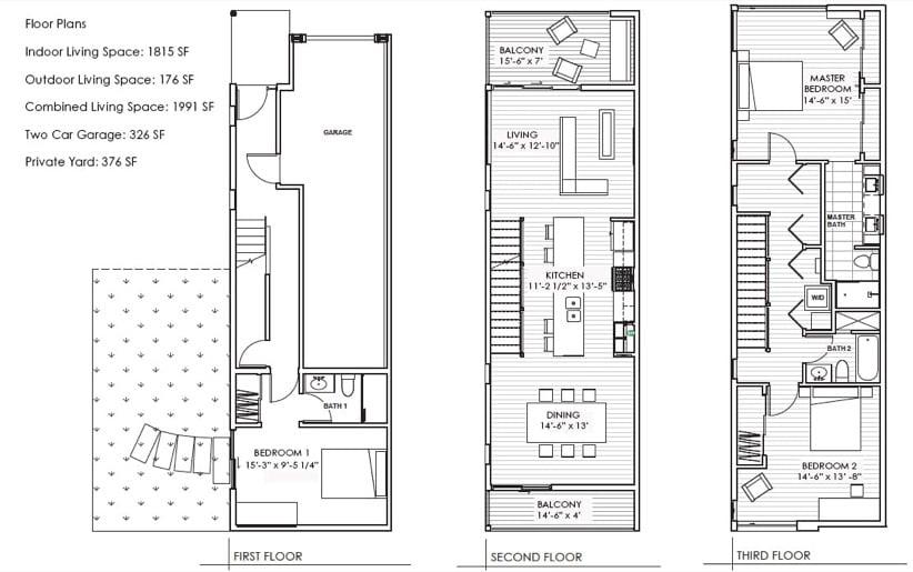 Atwater Village planos de planta