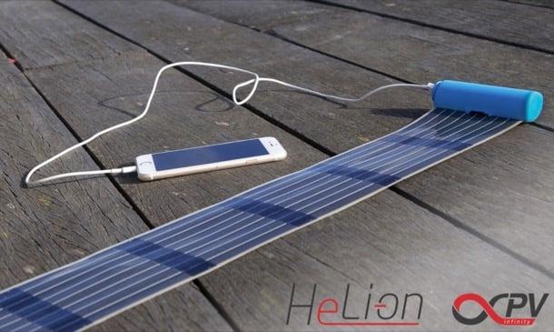 HeLi-on cargador lámina solar