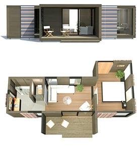 Modular CUBE casa de veran