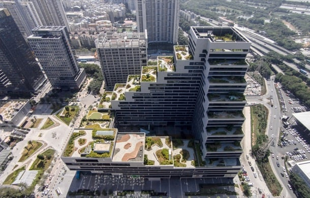 Shenye Tairan oficinas con jardines en azoteas