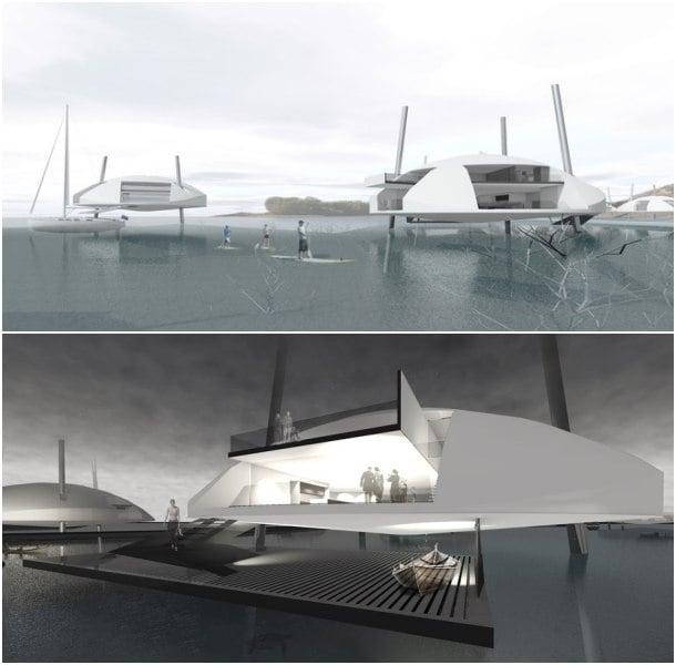 Tidal House casas flotantes