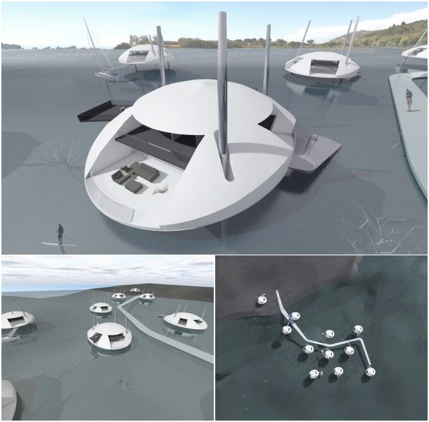 Tidal House comunidad casas flotantes
