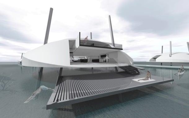 Tidal House estructura flotante