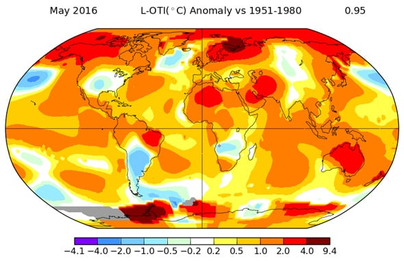 Aumento de temperaturas en Mayo: nuevo récord