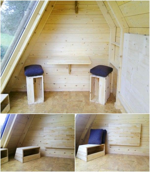 muebles refugio de madera