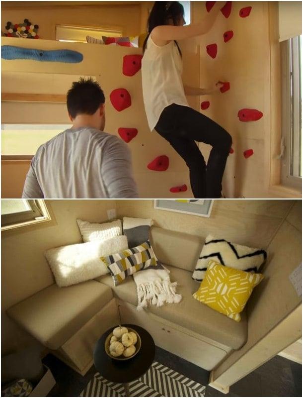 Z-Huis-escalando para subir a dormir