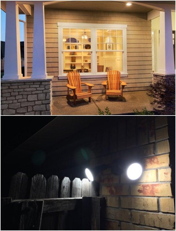 lámpara led porche