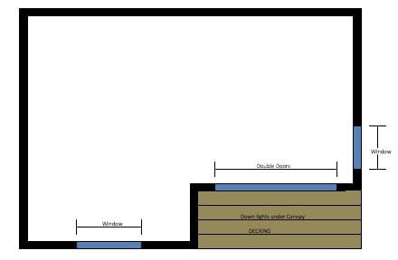 plano planta caseta prefabricada Rubicon