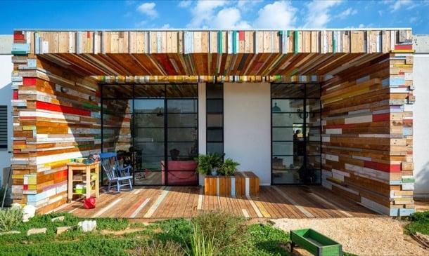 reutilizar la madera en la Casa LaHO
