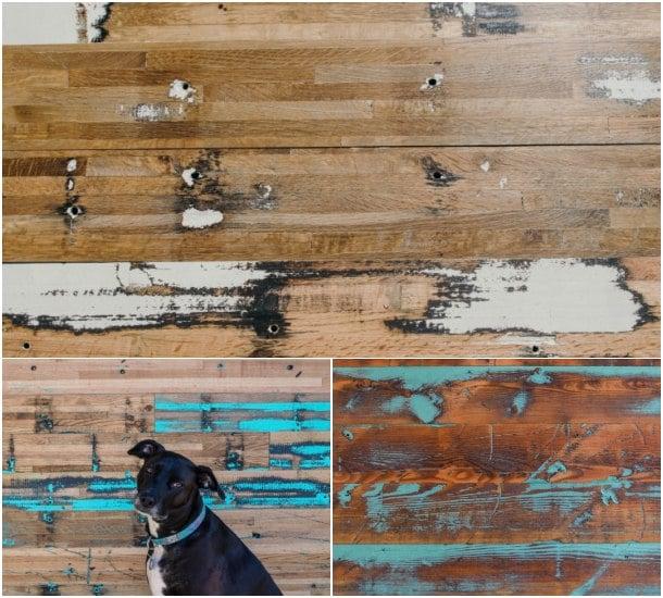 tableros de madera recuperada Colorburst