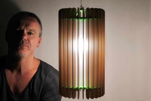 AVALON lámparas reciclando persianas