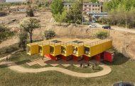 Arquitectura con contenedores para un pabellón en China