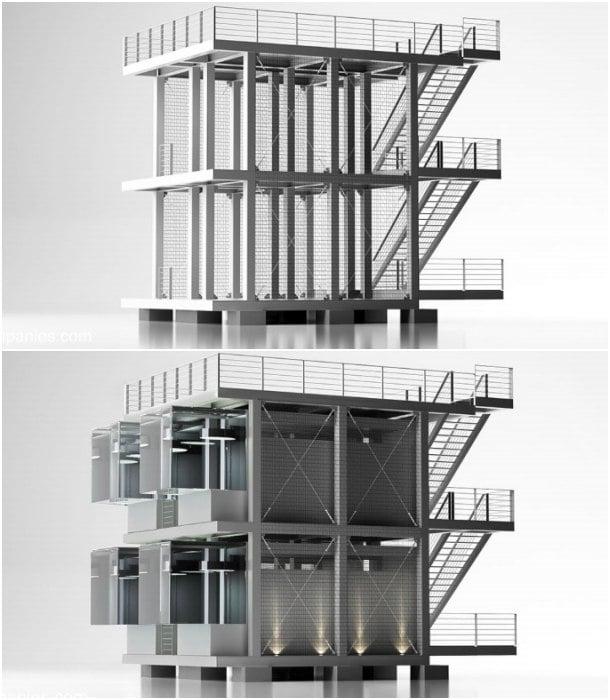 estructura prefabricada para modulos KASITA