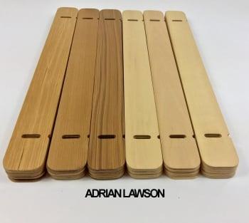 lamas de madera reciclada y preparadas lamparas AVALON