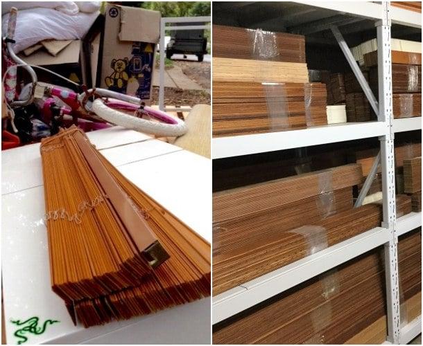reciclando persianas de madera