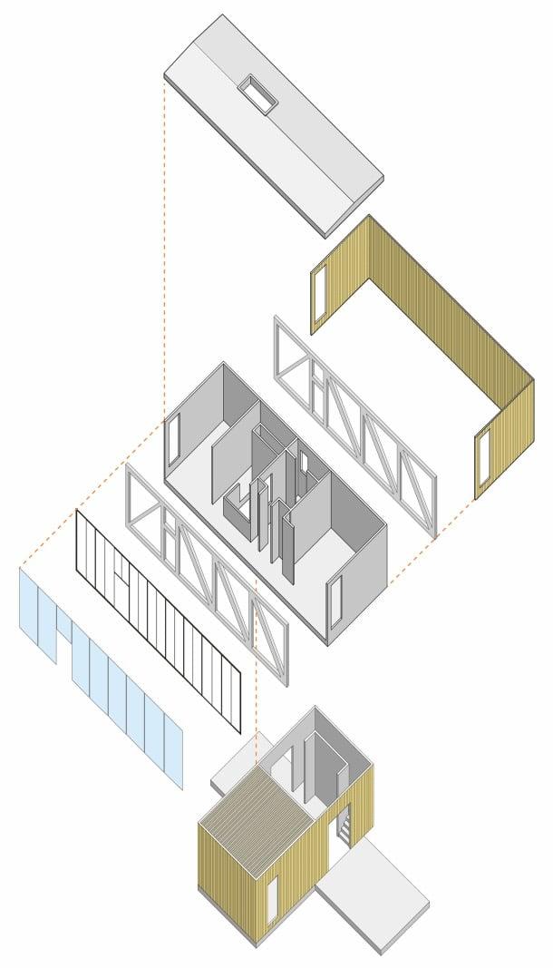 cantilever-house-axonometría