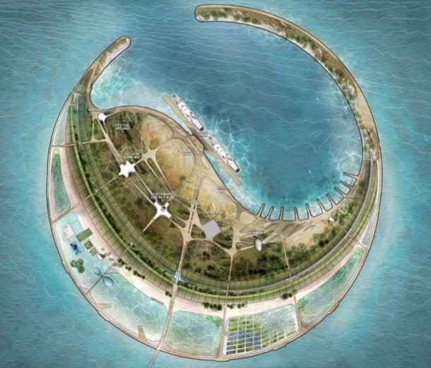 eco-isla Perla Mar Sur idea ganadora concurso