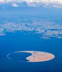 isla artificial bahia de Haikou