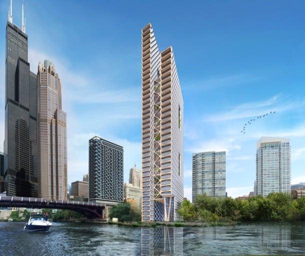 River-Beech-Tower rascacielos de madera Chicago