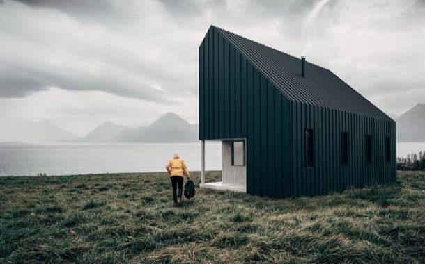 Cabaña prefabricada que se envía en embalajes planos
