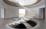 Cómo se hizo la escalera helicoidal de Formby
