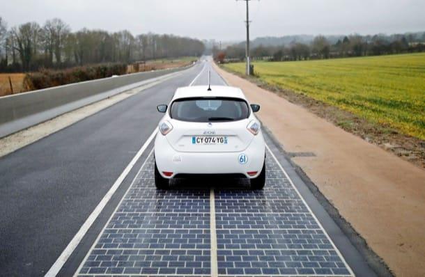 carretera solar en Normandia