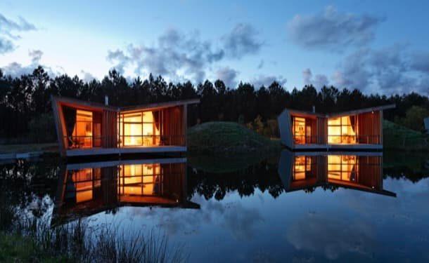 Les Échasses: bungalows de madera para un hotel rural