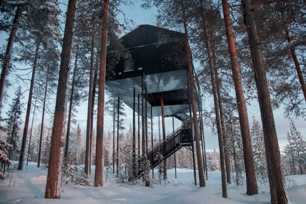cabaña árbol treehotel snohetta-suecia