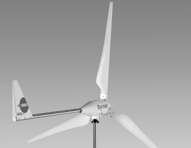 pequeño aerogenerador Wind+ de Bornay