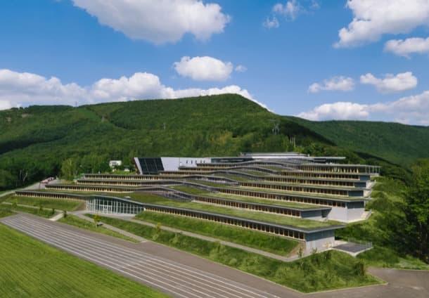 Lycée Jean Moulin con azoteas verdes