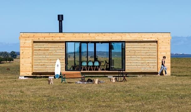 Casa prefabricada en uruguay y en dos m dulos por mapa - Casas prefabricadas modulos ...
