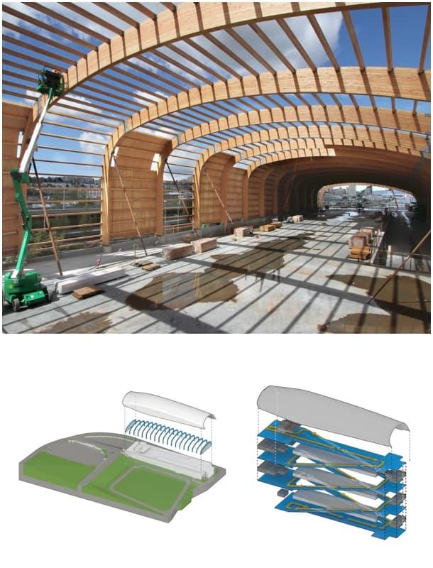 Cubierta del museo lemay con estructura de madera - Estructura madera laminada ...