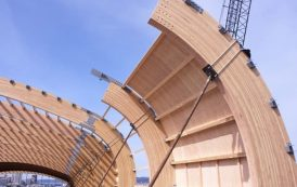 Estructura de madera del Museo LeMay