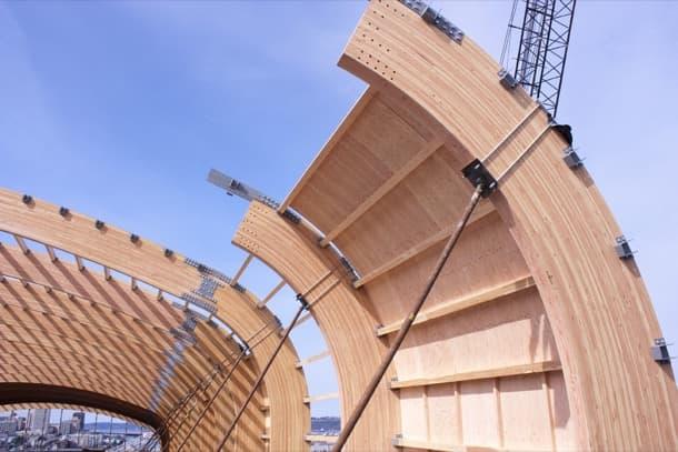 estructura cubierta del Museo LeMay
