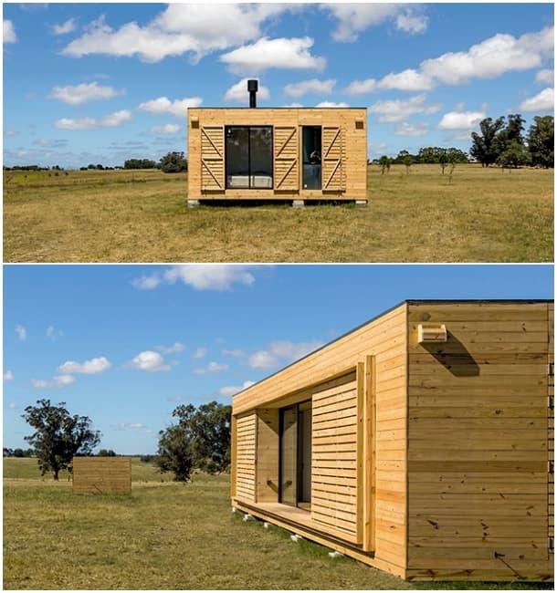 Casa prefabricada en uruguay y en dos m dulos por mapa - Prefabricados de madera ...